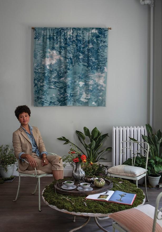 Jennifer Salvemini in the space she curated for the 2019 Kingston Design Showhouse. - PHOTO: DEBORAH DEGRAFFENREID