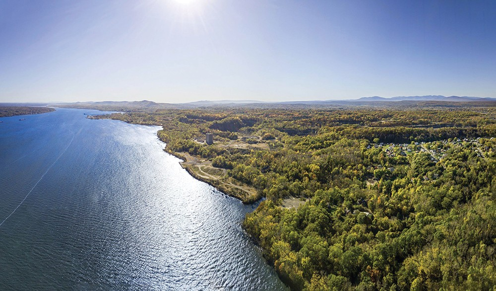 In January, Kingston Mayor Steve Noble announced that the land purchased by Scenic - Hudson will likely become a state park via Gov. Cuomo's $3 billion Restore Mother Nature Bond Act, which requires voter approval in November. - PHOTO: PIERCE JOHNSTON