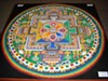 A Chenrezig Sand Mandala created and exhibited at the House of Commons, UK, on the occasion of the visit of the Dalai Lama on May 21, 2008.