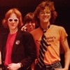 "Robert Burke Warren (right) with his ""Redheaded Friend,"" Todd Butler (left) and Adam Cahoon (center) at St. Pius X Catholic High School in Atlanta, Georgia, May 1980."