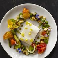 Recipe: Poached Halibut with Summer Succotash