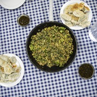 Recipe: Green Vegetable Fried Rice & Crescent Moon Dumplings
