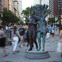 """Kathy Ruttenberg's """"In Dreams Awake"""" Installation on Broadway"""