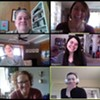 Arts Mid-Hudson staff on a Zoom meeting