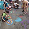 In front of Catskill Art & Office Supply in Kingston at the 2014 Chronogram Block Party