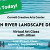 Virtual Art Class - Hudson River Landscape Drawing - Cornell Creative Arts Center @