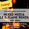 Virtual Art Class - Mixed Media Candle & Flame Renderings @