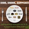 Dine, Drink, Support! @ Various restaurants
