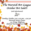 The Warwick Art League's October Art Sale @ Senior Center at Warwick Town Hall