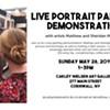 Live Portrait Painting Demo @ Carley Nielsen Art Gallery