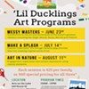 'Lil Ducklings Art Programs - Messy Masters! @ Arts on the Lake