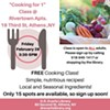 Cooking Class: Cooking for 1! @ Rivertown Apartments