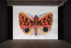 Allison Schulnik, Moth, 2019, installation view. - Uploaded by ellen_SEPTEMBER