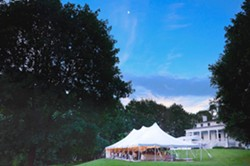Outdoor concert under the largest tent ever on Beattie's lawn! - Uploaded by Robert Hoven