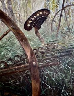 Abandoned Hay Rake, oil on canvas - Uploaded by Mary Beth