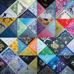 A selection of hankies from the Queer Ecology Hanky Project, which will be exhibited at Women's Studio Workshop in Rosendale beginning this month.