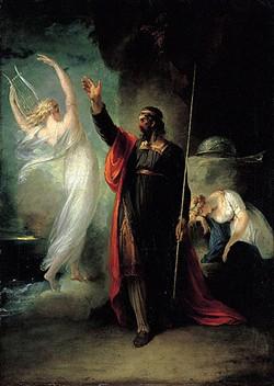 """""""Prospero and Ariel,"""" William Hamilton, oil on canvas, 1797"""