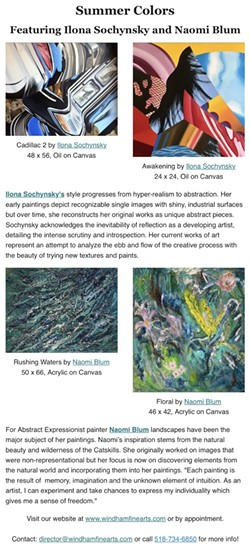 Summer Colors: featuring Ilona Sochynsky & Naomi Blum - Uploaded by Windham Fine Arts