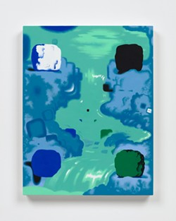 Joshua Marsh, Shiii..., 2021, Acrylic on canvas over panel, 22 x 17 in.