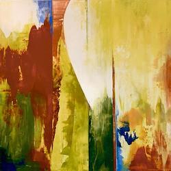 The Path Forward, acrylic on panel by Maxine Davidowitz - Uploaded by Maxine Davidowitz
