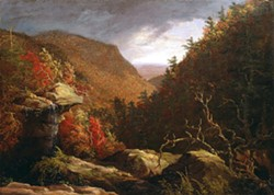 The Clove, Catskills | Thomas Cole | Oil on canvas | 1827 | On display at the New Britain Museum of American  Art, CT