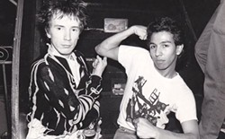 John Lydon and Michael Alago (right)