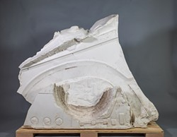 Calf, 2019 by Dan Devine. Cast plaster, 43x55x12 inches - Uploaded by Thompson Giroux Gallery