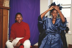 """Lyle Ashton Harris, """"Gail Burton and Peggy Nelson, Fort Greene, Brooklyn, late 1980s.""""  Marieluise Hessel Collection, Hessel Museum of Art. - Uploaded by GBard"""