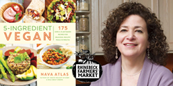 "Author Nava Atlas with new book, ""5-Ingredient Vegan"" - Uploaded by Oblong Books"