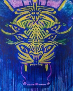 Sacred Seven Eyed Tiger - Uploaded by Galleryfifty5