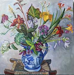 My Garden in a Vase, 30x30 inches - Uploaded by 510 Warren Street Gallery