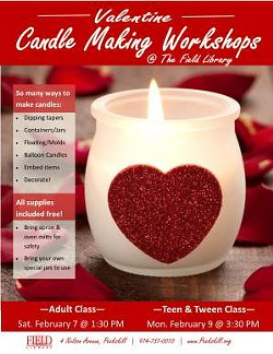 FIELD LIBRARY - Valentine Candle Making Workshops
