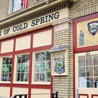 Cold Spring, Mahopac, Garrison Village of Cold Spring Police Department decorated for St. Patrick's Day. Anne Cecille Meadows