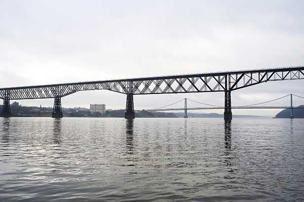 Walkway Over the Hudson and the Mid-Hudson Bridge.