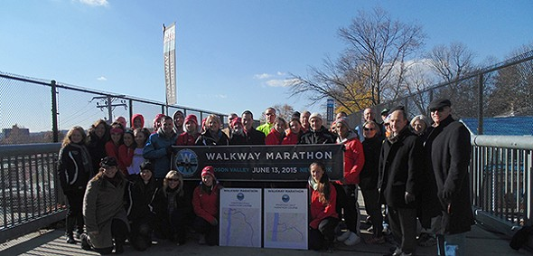 Walkway Over the Hudson in partnership with Dutchess County Government, and several other partners reveal plans and date for Walkway Marathon Series. - ASHLEY ARIAS