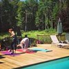 Poolside Yoga and a Swim in Woodstock