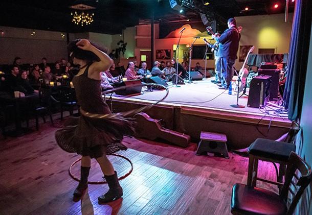 Wayne Hancock performing at Towne Crier Café in Beacon. - CHRISTINE ASHBURN