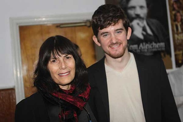 Woodstock Film Festival Executive Director Meira Blaustein and filmmaker Noah Hutton at a screening of Hutton's More to Live For at the Rosendale Theater on December 9. - BETTY GREENWALD