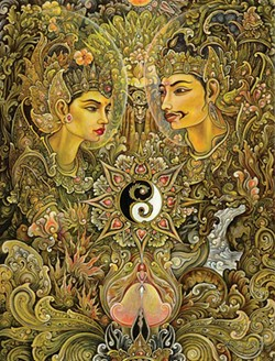 Yin Yang, Tjokorda Gde Arsa Artha, ink, watercolor, acrylic on paper, 2011.