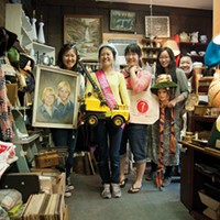 Woodstock, Mount Tremper, and Phoenicia Yuna Chai, Helen Kim,Alice Kim, Joomi Kim, and Elizabeth Yoon at  Mystery Spot Antique in Phoenicia. Roy Gumpel