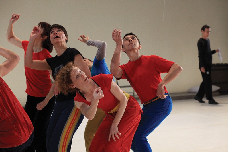 Yvonne Rainer (picture rear right) and dancers performing Assisted Living: Good Sports 2. Yvonne Rainer's works will be performed at Dia:Beacon this month, in a series lasting through next year.