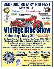 THE ROTARY CLUB OF BEDFORD - 33rd Annual Bedford Rotary Rib Fest and Vintage Motorcycle Show