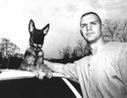 A dog and his boy: Dutch with partner Dan Warner. - WALTER  NOVAK