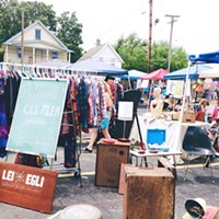10 Things Going on in Cleveland this Weekend (October 11-13) A monthly outdoor flea market that doesn't require you drive out to the sticks, the Cleveland Flea has slowly picked up steam and become the go-to spot for Clevelanders looking for vintage clothing and affordable furniture. Held today from 9 a.m. until 4 p.m. at Sterle's, Cleveland Flea also gives local artists and artisans a chance to show off their wares. And Sterle's Bier Garden is always open if you're just looking to take in the vibe of the whole thing. (Niesel) Photo Courtesy of Todd V. Wolfson for the Kevin Welch Website