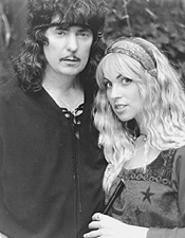 A princess and her prince: Candice Night and Ritchie Blackmore.