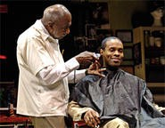 Adolphus Ward's Howard cuts some happy hair.
