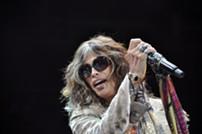 Aerosmith's Steven Tyler performing in Cleveland. - JOE KLEON
