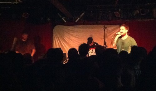 Aesop Rock, right, dished up a fierce set last night.