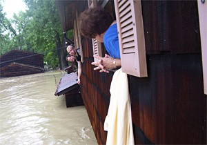 After a flood washed out Painesville in 2006, Ginny Hobson had to be rescued from her roof.