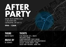CHRIS JASINSKI - After Party Flyer